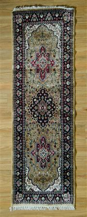 Sale 8693C - Lot 69 - Indian Silk Runner 188cm x 63cm