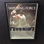 Sale 8805A - Lot 879 - Imposing Force, Matthew Hayden, Limited Edition 255 of 359, framed