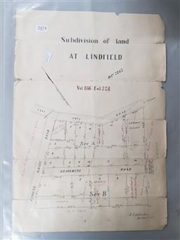 Sale 9152 - Lot 2474 - Subdivision at Lindfield Plan