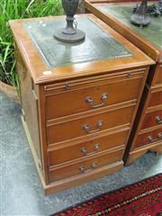Sale 7972A - Lot 1029 - Filing Cabinet w Leather Insert Top