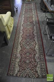 Sale 8326 - Lot 1288 - Red Floral Hall Runner (80 x 400cm)