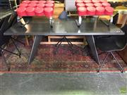 Sale 8648 - Lot 1045 - Modern Metal Dining Table (H: 73 L: 190 D: 90cm)