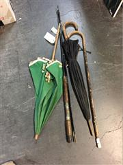 Sale 8659 - Lot 2214 - Vintage Fishing Rod with Other Outdoor Accessories incl. Parasol