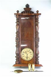 Sale 8749 - Lot 49 - Late Victorian Wall Clock