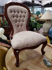 Sale 8769 - Lot 1063 - Mahogany Grandmother Chair