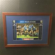 Sale 8805A - Lot 829 - Waratahs Super 12, 2005 Grand Finalists, framed