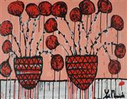 Sale 8837A - Lot 5031 - Yosi Messiah (1964 - ) - Red Blossom 75 x 100cm