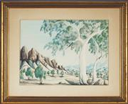 Sale 8845 - Lot 2012 - Gabriella Wallace (1945 - ) - Central Australian Landscape 23 x 34cm