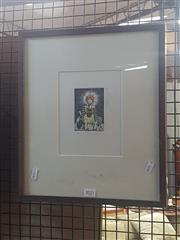 Sale 8836 - Lot 2045 - Phil Hannaford - The Shepard 2002 colour etching ed.3/50 signed and dated upper right, Australian Galleries label verso