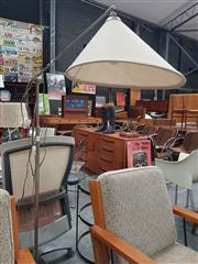 Sale 8872 - Lot 1083 - Danish 1960s Adjustable Floor Lamp