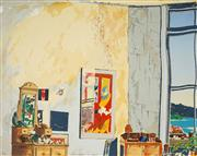 Sale 8961A - Lot 5072 - Michael Winters (1943 - ) - Studio Corner and the Harbour 56 x 76 cm (sheet)