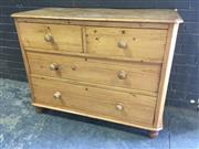 Sale 8976 - Lot 1066 - Baltic Pine Chest of Four Drawers, on turned feet (H:889 x W:115 x D:51cm)
