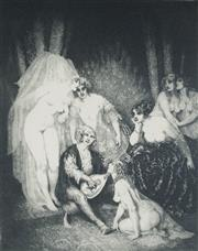 Sale 9045 - Lot 2011 - Norman Lindsay The Ragged Poet facsimile etching Odana Edition no.411 /550 (frame: 62 x 52 x 2cm) Bloomfield Galleries certificate...