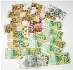 Sale 9192 - Lot 58 - A Collection of Australian Paper Currency ($389)