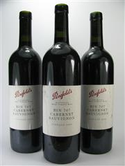 Sale 8238B - Lot 89 - 3x Penfolds Bin 707 Cabernet Sauvignon, South Australia
