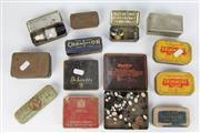 Sale 8407 - Lot 69 - Champion Spark Plug Box with Spark Plug & Other Boxes incl Chinese Seal Ink Pad Box