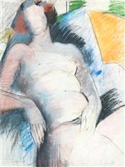 Sale 8548 - Lot 2158 - Artist Unknown - Seated Nude 74 x 55cm
