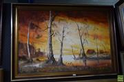 Sale 8569 - Lot 2048 - N. Frith, Country Landscape, acrylic on canvas board, frame 71 x 102cm, lower left