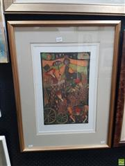 Sale 8573 - Lot 2020 - A. Smith - The Performers I 71 x 53cm (frame)