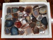 Sale 8717 - Lot 1094 - Box Small Fancy Agate Pieces