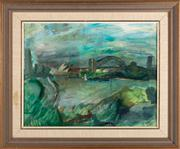 Sale 8844 - Lot 31 - Penny Meagher - Sydney Harbour from Lavender Bay 35 x 44cm
