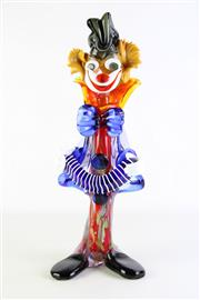 Sale 8887A - Lot 673 - A Large Venetian Glass Clown Playing the Accordion (H47cm)