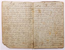 Sale 9122 - Lot 4 - Original Part 1857 Account of an Immigrants Journey from Birkenhead, England to Botany Bay & Sydney via The Cape of Good Hope by Joh...