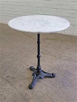 Sale 9151 - Lot 1311 - Round marble top table (h74 x d60cm)