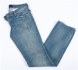 Sale 9095F - Lot 39 - A pair of Victoria Beckham straight leg jeans, faded with embroidered gold stars to back pockets, size 28.