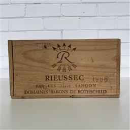 Sale 9257W - Lot 976 - French Timber Wine Box for 1986 Chateau Rieussec