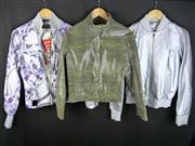 Sale 7982B - Lot 83 - Versace, three jackets including one leather, the others bomber style