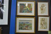 Sale 8250C - Lot 2018 - Artist Unknown - Valley View and Landscape, each watercolour and gouache, each 22 x 30, each unsigned