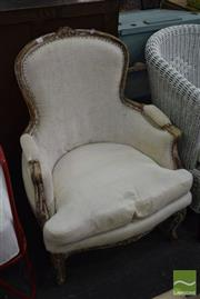 Sale 8532 - Lot 1292 - Carved French Style Armchair