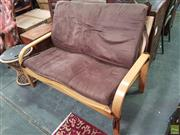 Sale 8601 - Lot 1094 - Timber Two Seater Sofa