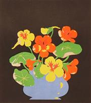 Sale 8666A - Lot 5066 - John Hall Thorpe (1874 - 1947) - Nasturtium II 19 x 17cm