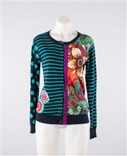 Sale 8760F - Lot 171 - A Desigual multi-patterned cardigan, size 14