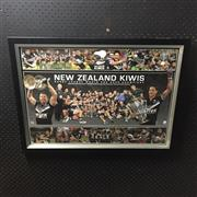 Sale 8805A - Lot 864 - New Zealand Kiwis, Rugby League World Cup Champions 2008, Limited Edition 77 of 1000, framed