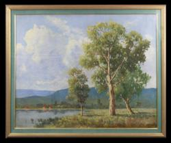 Sale 7923 - Lot 553 - S. T. Scammell - River Scene 60 x 77cm
