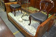 Sale 8093 - Lot 1756 - Continental Fruitwood Single Sleigh Bed