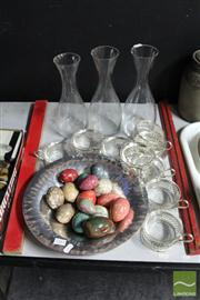 Sale 8362 - Lot 218 - Stone Eggs with Other Wares incl. Vases & Creme Brulee Dishes