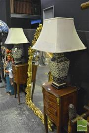 Sale 8368 - Lot 1007 - Pair Of Chinese Table Lamps With Butterfly Motifs