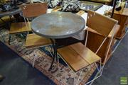 Sale 8532 - Lot 1318 - Three Piece Patio Suite with Table and Two Chairs