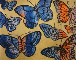 Sale 8666A - Lot 5057 - David Bromley (1960 - ) - Butterflies 54.5 x 74cm