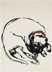 Sale 8961A - Lot 5078 - Margaret Woodward (1938 - ) - Untitled (Dog), 1999 76 x 56 cm (sheet)