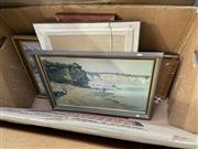 Sale 8998 - Lot 2058 - Group of Assorted Original Paintings, Early Egyptian Scene, Watercolours, Engravings and Decorative Prints