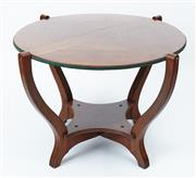 Sale 9080J - Lot 19 - An antique Australian Queensland maple games table by Beard Watson C: 1905, the revolving top fitted with green felt. Ht: 68cm x W: ...