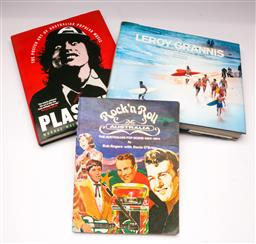 Sale 9110 - Lot 377 - Two Australian Music Related Books Together with A Leroy Grannis Surfing Photography Book
