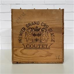 Sale 9257W - Lot 978 - French Timber Wine Box for 1976 Chateau Coutet