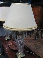 Sale 7972A - Lot 1036 - Pair of Crystal Drop Table Lamps