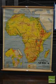 Sale 8235 - Lot 1082 - Vintage Educational Map of Africa